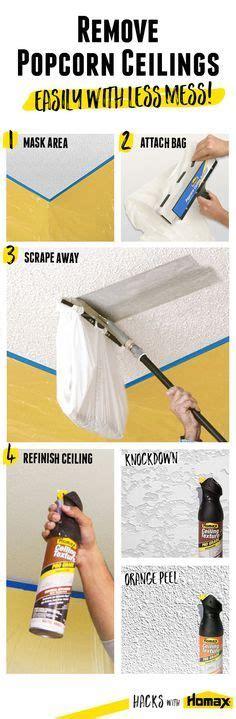 remove popcorn ceiling texture removing popcorn