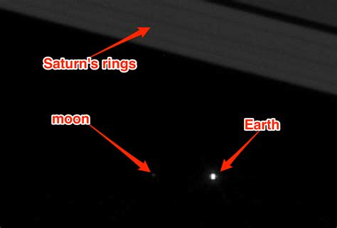New Nasa Photo Shows Earth The Moon Through Saturn