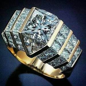 giant diamond ring With gaudy mens wedding rings