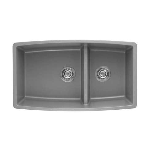 shop blanco performa metallic gray single basin undermount