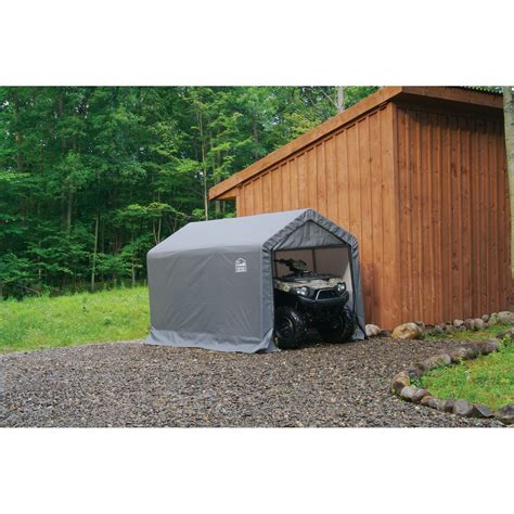 shelter logic shed shelterlogic 6x10x6 6 quot shed in a box grey