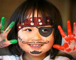 Pirate face paintings, Face painting for kids and Pirate ...