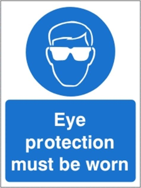 eye protection   worn health  safety sign ssd