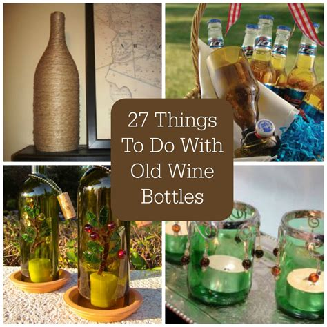 cool things to do with wine bottles 27 things to do with old wine bottles favecrafts com