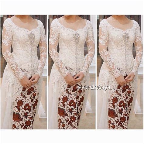 white kebaya simpel tapi elegan all about weddings