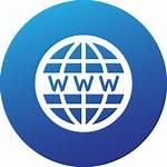Website Circle Social Icon Gradient