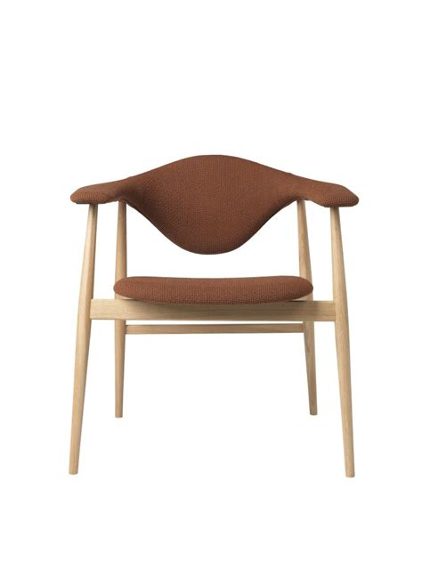 masculo dining chair wood base  gubi