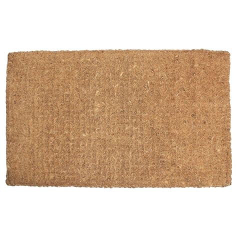 coconut doormat j m home fashions plain imperial coco