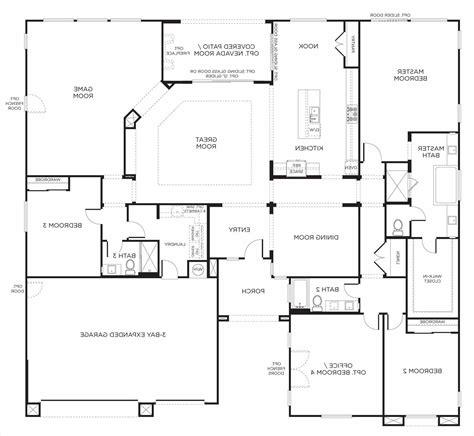 farmhouse floor plans one single farmhouse floor plans level house with