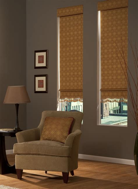 add extra flair  decorative roller shades featuring