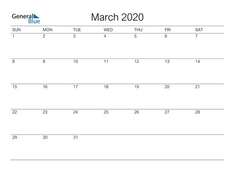 march  calendar  word excel