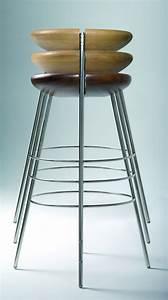 Tabouret De Bar Inox : tabouret de bar tribo h 76 cm bois pieds m tal assise ch ne naturel huil structure inox ~ Teatrodelosmanantiales.com Idées de Décoration