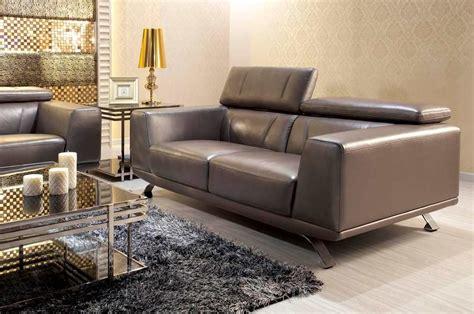 Gray Modern Sofa by Modern Metallic Grey Leather Sofa Set Leather Sofas