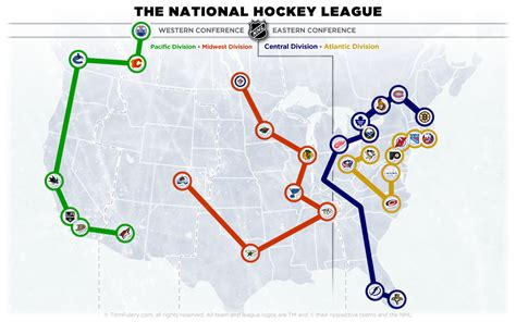 Nhl Realignment Map 201314  The Home Of The Nhl