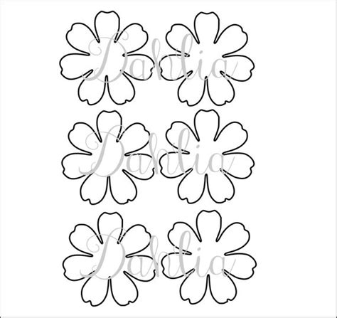 free paper flower templates diy printable flower templates pdf petal templates diy