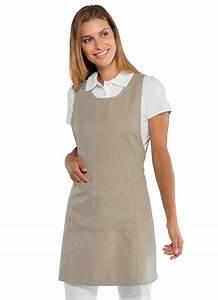 Cote De Travail Femme : tablier de travail beige pour femme en tissu microfibe ~ Dailycaller-alerts.com Idées de Décoration