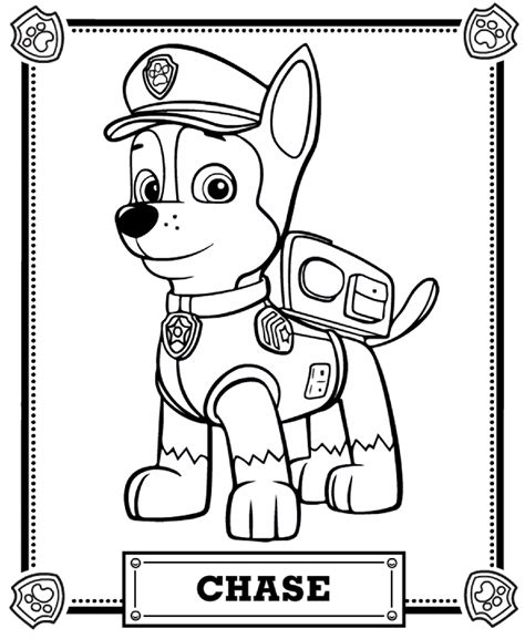 Paw Patrol Chase Printable Everest Tracker Sketch Coloring