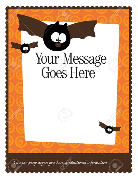halloween border templates festival collections