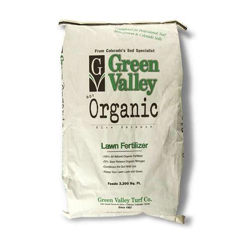 lawn fertilizer brands gvt 8 2 1 100 organic lawn fertilizer green valley turf 3684