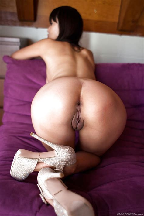 Young Hot Asian Marica Hase In Sexy Heels Showing Nice Ass
