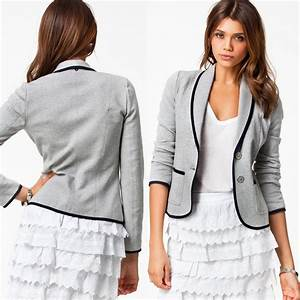 Womens Slim Fit Casual Smart Short Blazer Ladies Office ...
