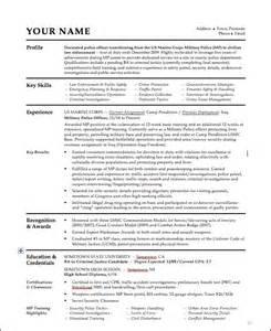 resume sles free download pdf resume writing military to civilian
