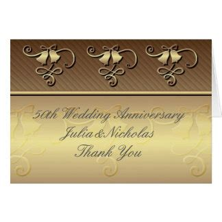 50th Wedding Anniversary Thank You Cards Invitations