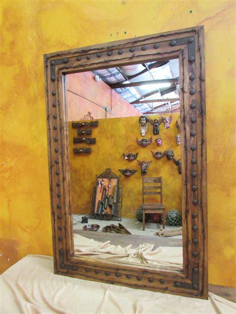 bathroom vanity mirror rancho adobe rustic mirror