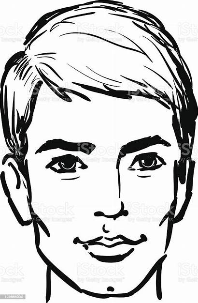 Face Sketch Attractive Illustration Vector Adult Human