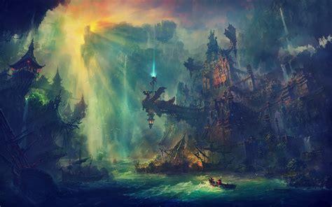 artwork, Fantasy art, Digital art, Ruin, City, Magic ...