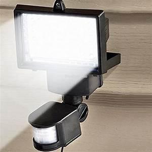 60 led pir motion sensor security floodlight garden With outdoor security lights ebay uk