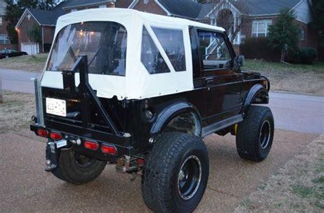buy used 1988 5 suzuki samurai lifted v6 auto black tops rack rear seat runs in