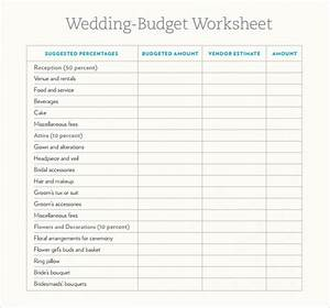 6 wedding budget samples sample templates With what should my wedding budget be