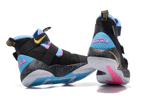 nike lebron soldier  blacksky blue multi color