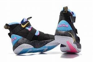 Nike LeBron Soldier 11 Black/Sky Blue Multi-Color 2017 ...