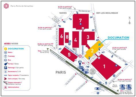 plan du parc des expositions porte de versailles