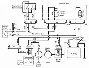 Kawasaki vulcan vn750 electrical system and wiring diagram for Kawasaki en500 vulcan junction box circuit diagram