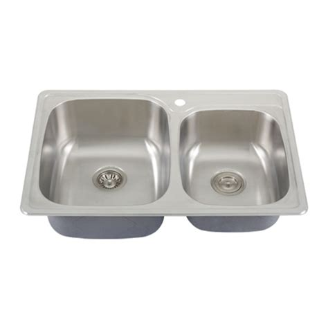 Overmount Stainless Steel Sink by Ticor S995 Overmount 18 Stainless Steel Kitchen Sink