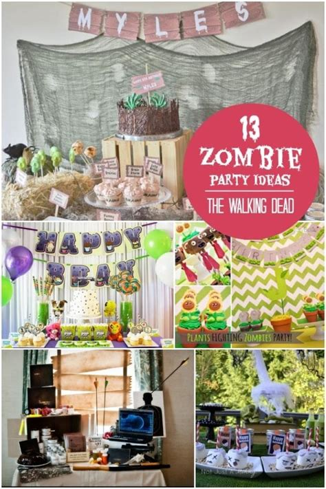 13 Walking Dead And Zombie Birthday Parties Spaceships