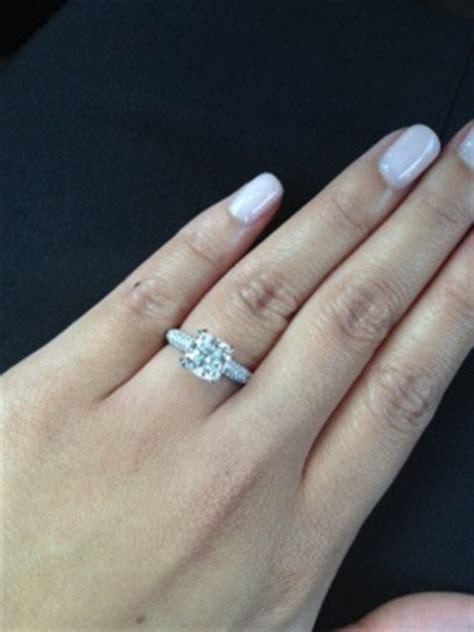 my cushion cut micro pave engagement ring weddingbee