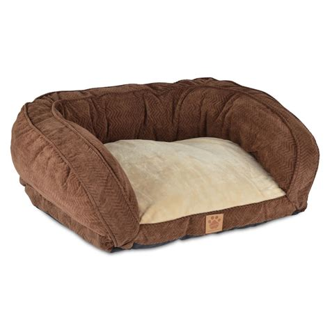 pet bed snoozzy chocolate gusset pet bed ebay