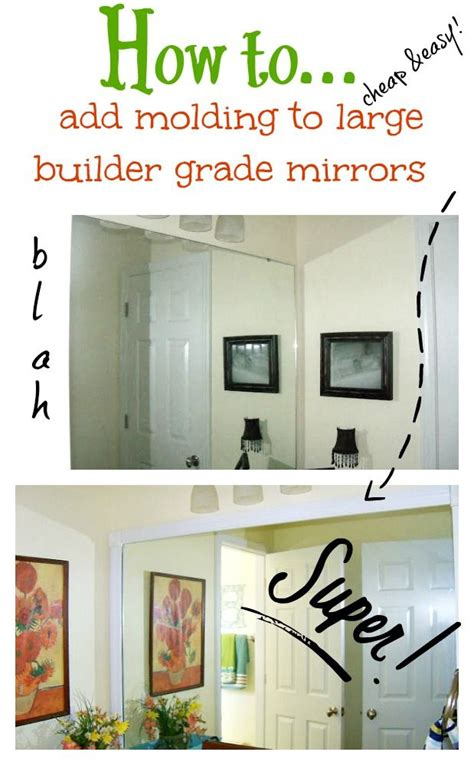 Builder Grade Bathroom Mirror by How To Add Molding Around Your Bathroom Builder Grade