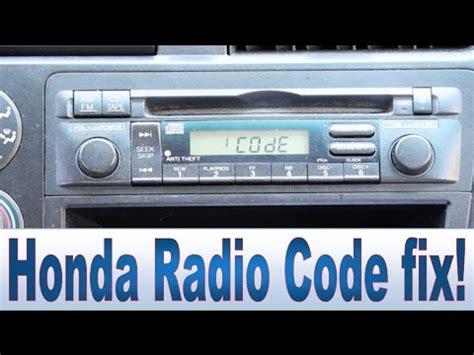 Honda Civic Accord Cr-v Pilot Radio Code And Serial Number