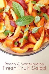 Fresh Locally Grown Produce: Peach and Watermelon Fresh ...