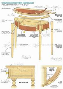Classic Demilune Table Plans • WoodArchivist