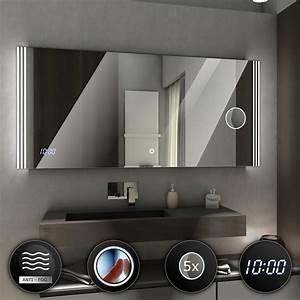 Spiegel Mit Uhr : arica badspiegel mit led beleuchtung uhr schalter schminkspiegel heizz ebay ~ Orissabook.com Haus und Dekorationen