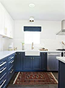 blue and white kitchen ideas stylish two tone kitchen cabinets for your inspiration hative