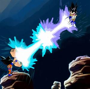 Information About Goku Vs Vegeta Kamehameha Vs Galick Gun Wallpaper