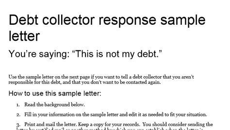 dealing  debt collectors  simple dos  donts