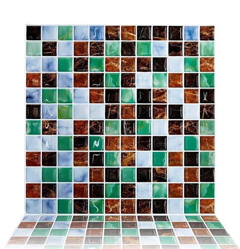 kitchen stick on tiles cocotik backsplash tile for kitchen marble square peel and 6132